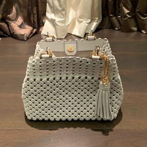 Michael Kors white braided handbag